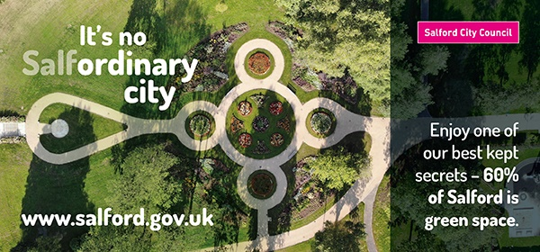Its no Salfordinary city - enjoy one of our best kept secrets - 60% of Salford is green space